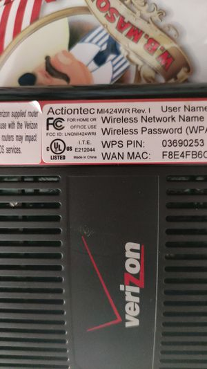 verizon router MI424WR Rev. I for Sale in Jericho, NY