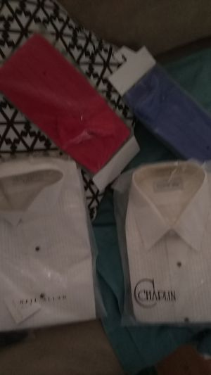 Tuxedo shirt and now white dress up shirt for Sale in Las Vegas, NV