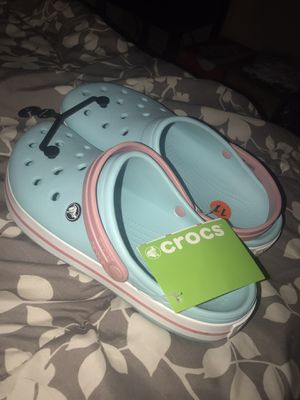 "Crocs ""sky blue pink"" size 9 mens 11 women's for Sale in San Jose, CA"