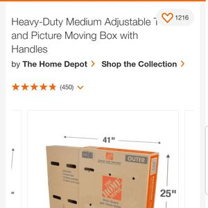 (2) Medium Heavy Duty TV Picture Moving Boxes for Sale in Chino, CA