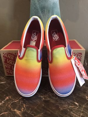 Vans Rainbow Glitter Slip On Skate Shoes for Sale in Buckeye, AZ