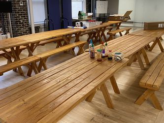 Wood Picnic Tables (pick Up Only 8-4:30pm) for Sale in Seattle,  WA