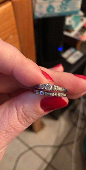 14k white gold 3/4 karat diamond wedding set for Sale in Graham, NC