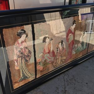 """Painting Chinese Artwork """"Framing Glass"""" (Beautiful) In Good Condition 82"""" X 42"""" $200 OBO. for Sale in Lake Worth, FL"""