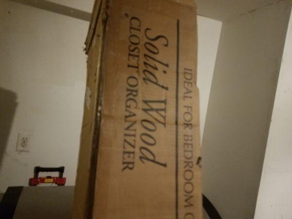 Solid wood closet organizer