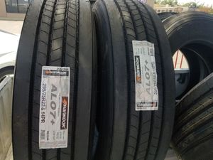 295 75 22.5 HANKOOK DINAPRO STEER COMMERCIAL TRUCK TIRES for Sale in Rancho Cucamonga, CA