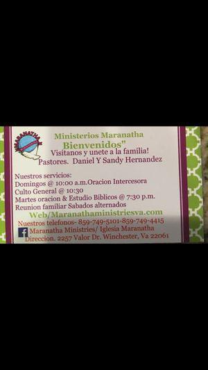 IGLECIA MARANATHA for Sale in Winchester, VA