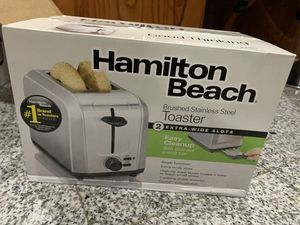 Brand new in box stainless steel toaster extra wide for Sale in Garland, TX