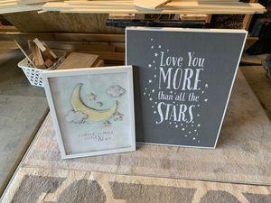 Nursery art frames decor for Sale in Glendale, AZ