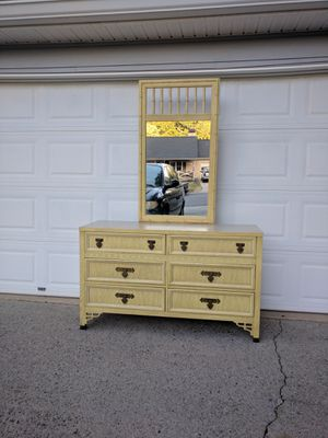 Vintage Dixie Shangri La collection dresser with mirror for Sale in Duluth, GA