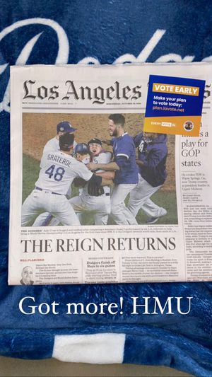 Los Angeles times Los Angeles Dodgers World Series paper!!! for Sale in West Covina, CA