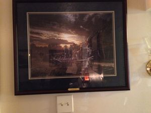The Gathering Storm by John Paul Strain SIGNED ON THE GLASS BY THE ARTIST for Sale in Manassas, VA