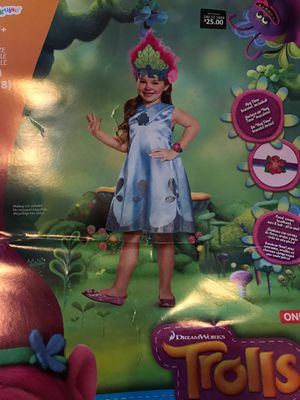 Trolls costume . Poppy deluxe child costume. Brand new for Sale in Orlando, FL