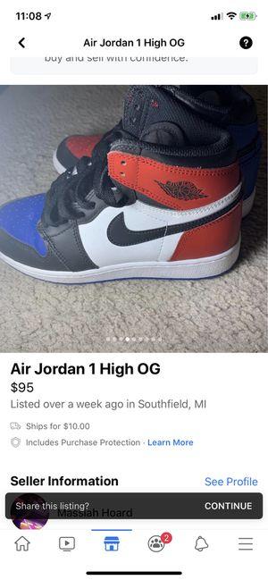 Air Jordan 1 high OG for Sale in Southfield, MI