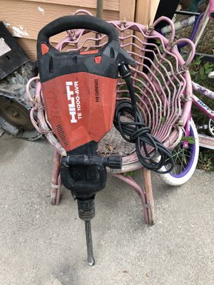 Hilti 120-Volt Polygon Breaker TE 1000-AVR Demolition Hammer Performance for Sale in Salt Lake City, UT