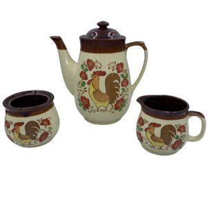 Vintage Ceramic Rooster Tea Pot Sugar Creamer Set for Sale in Greenville, SC