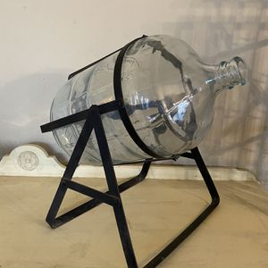 5 Gallon Glass Bottle With Iron Stand for Sale in Phoenix, AZ