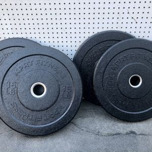 2x 35 lb ($240) And 2x 15 Lb ($170) Bumper Olympic Weight Plates All Brand New In Box for Sale in San Jose, CA