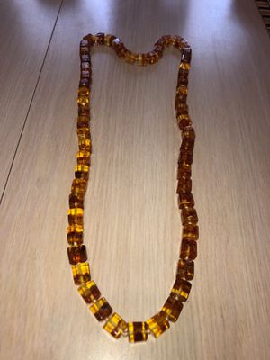 """Vintage Mid-Century 32"""" Large Natural Amber Necklace Preowned From an Estate 81.5 Grams TW for Sale in Berlin, NJ"""