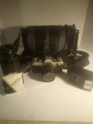 Canon AE-1 with flash and 2 lenses for Sale in Goffstown, NH