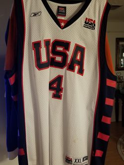 NBA Reebok Retro Authentic USA Olympic Allen Iverson Basketball jerseys for Sale in Cantonment,  FL