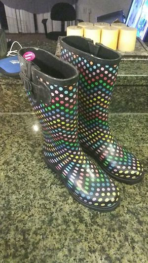 Rain boots size 8 great condition for Sale in Orlando, FL