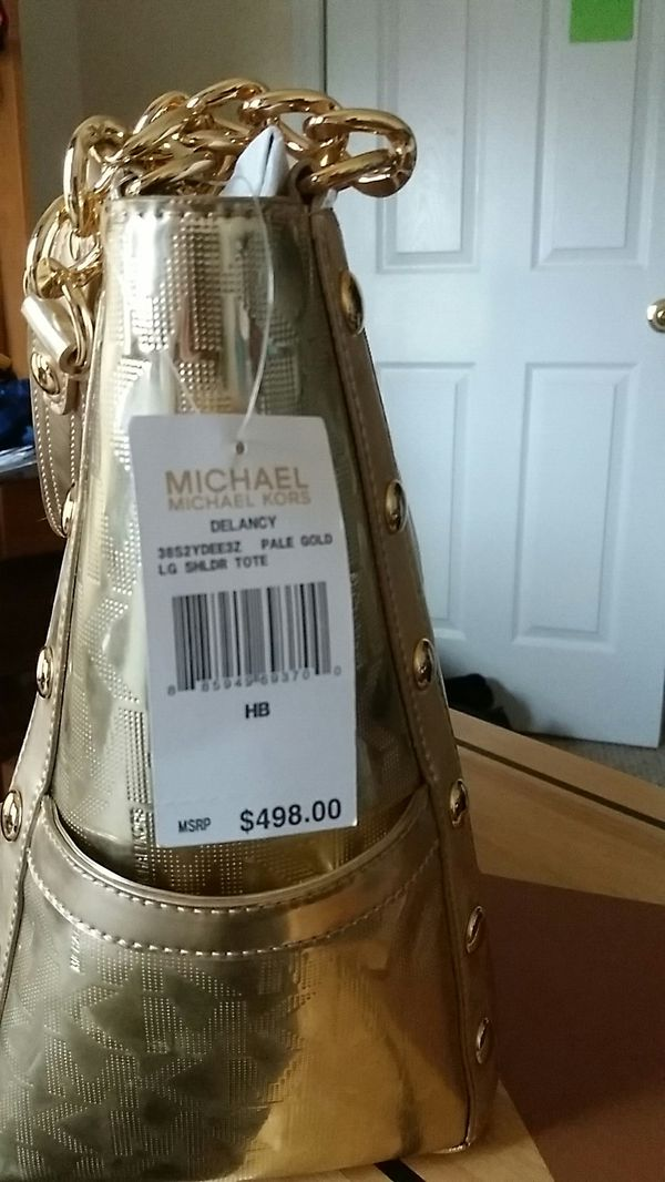 Michael kors plle gold lG shldr tote. Cash or trade looking for phone
