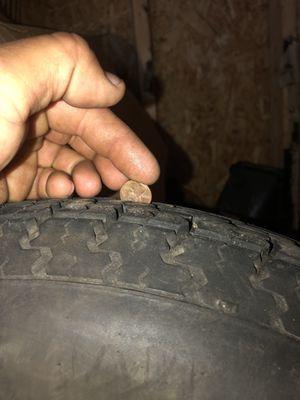 Small five lug trailer tires and rims for Sale in Grand Ledge, MI