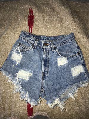 Levi's high waisted vintage denim shorts size 0 for Sale in Atlanta, GA