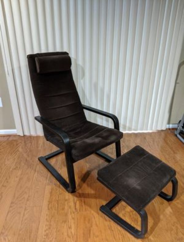 Ikea Chair + Ottomans
