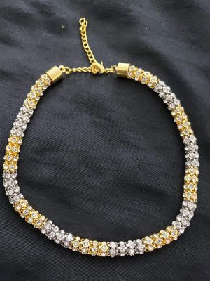 Necklace in silver with gold mix color for Sale in Moreno Valley, CA