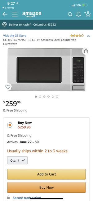 Stainless Steel Countertop Microwave for Sale in Columbus, OH