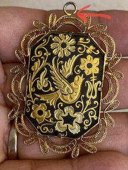 Vintage Brooch (Bird & Flowers) for Sale in Austin,  TX