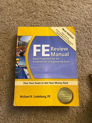 Book FE Review Manual 3rd Edition for Sale in Austin, TX