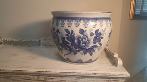 """16"""" fishbowl flower pot blue and white new for Sale in Lake Forest, CA"""
