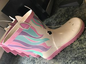 Girls rain boots size 5 for Sale in Modesto, CA