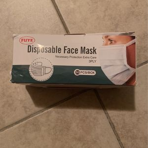 DISPOSABLE FACE MASK (50 PCS) for Sale in Brooklyn, NY
