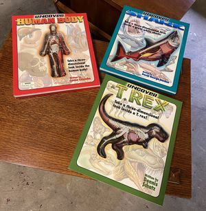 3-D books - Shark, Trex and Human Body - all three for $15 for Sale in Rockville, MD