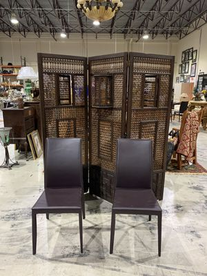 Brown Italian Leather Chairs - New Showroom Samples - $95 EACH Chair for Sale in West Palm Beach, FL