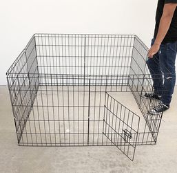 "$30 (new in box) 8-panel dog playpen, each panel 24"" tall x 24"" wide pet exercise fence crate kennel gate for Sale in Whittier,  CA"