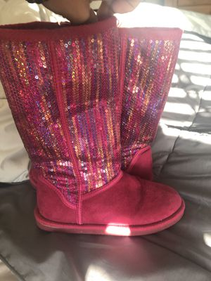 Girls glitter boots sz 13- good shape! $5 for Sale in Murfreesboro, TN