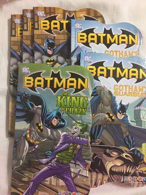 Batman 6 Hardback books & 3 Activity coloring books for Sale in Azle, TX