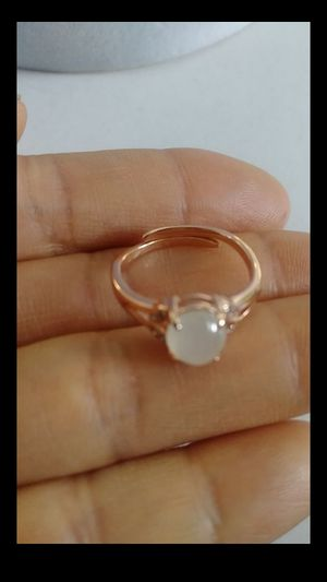 (14) adjustable size fengshui genuine green icy jade silver 925 rosegold color ring for Sale in Richmond, CA