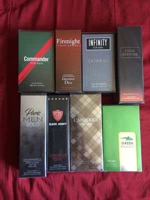 Mens Cologne Set of 8 for Sale in San Diego, CA