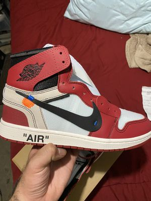 Nike air Jordan 1 Chicago off-white size 10 for Sale in Providence, RI