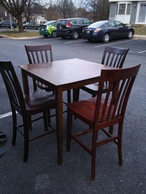 Cherrywood Counter High table set for sale like new for Sale in Washington, DC
