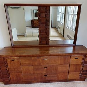 Vintage Mirrored Dresser and Drawer for Sale in Brooklyn, NY