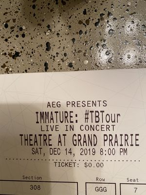IMMATURE TB TOUR (DAY 26, RAY J, B5, J HOLIDAY for Sale in Dallas, TX