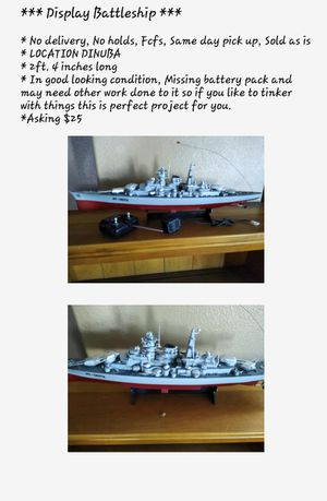 Display battleship $10 for Sale in Dinuba, CA