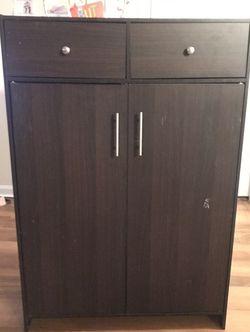 Storage Cabinet (Dark Brown) for Sale in Alexandria,  VA